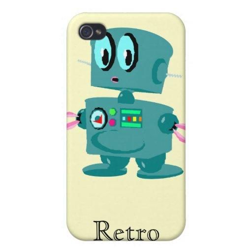 Robô verde retro clássico capa iPhone 4