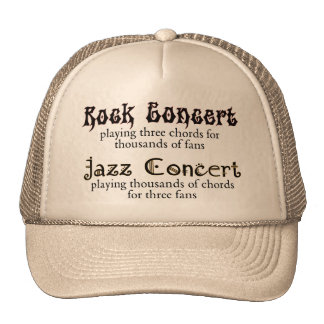 Rocha contra o chapéu do jazz boné