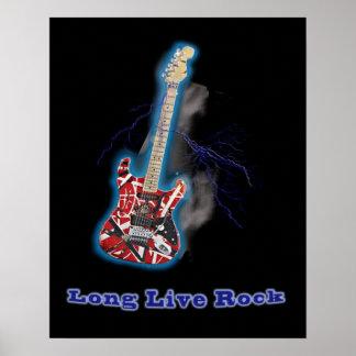Rocha da guitarra pôster