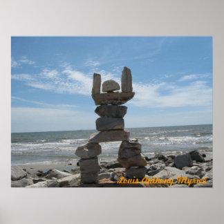 Rocha de Galveston & homem do rolo Poster