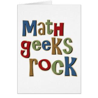 Rocha dos geeks da matemática cartoes