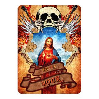 Rocha engraçada de Jesus Convite 12.7 X 17.78cm