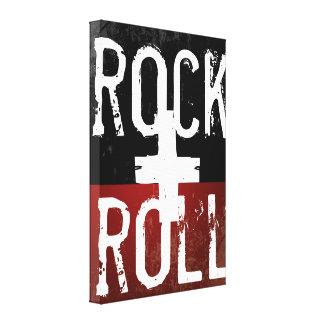 rocha + rolo em preto e no vermelho impressão de canvas envolvida