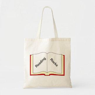 Rochas da leitura bolsa tote