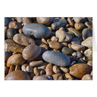 Rochas da praia cartão