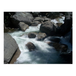 Rochas de Yosemite do rio de Merced Cartão Postal