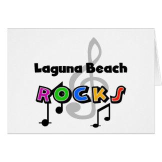 Rochas do Laguna Beach Cartao