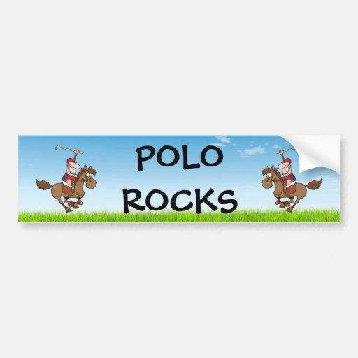 rochas do polo/cavaleiro e cavalo adesivo