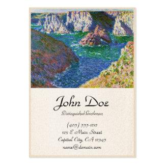 Rochas no Belle-Ile Claude Monet Cartão De Visita Grande