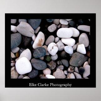 Rochas no poster da arte da fotografia do abstrato