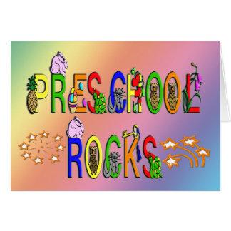 Rochas prées-escolar - estrelas cartão comemorativo