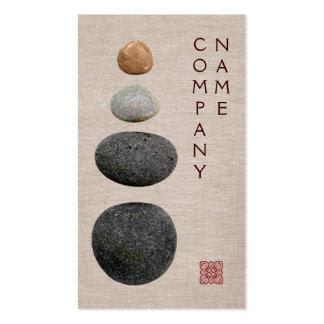 Rochas quentes do terapeuta da massagem cartão de visita