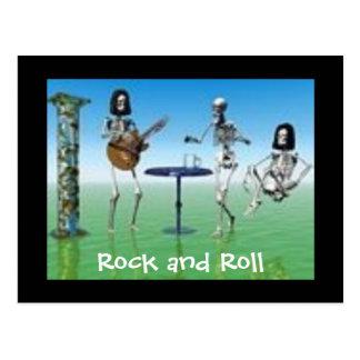 Rock and roll cartão postal