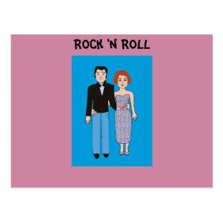 Rock and roll! cartão postal