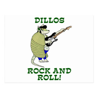 Rock and roll de Dillos Cartão Postal