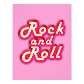 Rock and roll de néon flyer