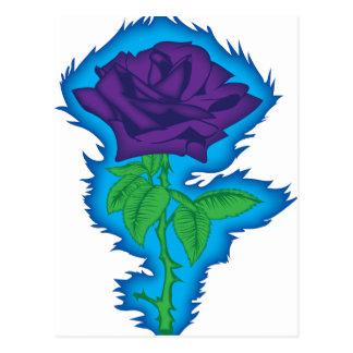 rock and roll rose.png cartão postal