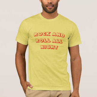 ROCK AND ROLL TODA A NOITE TSHIRT