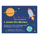 Rocket ao partido do espaço, aniversário de crianç convite