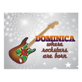 Rockstars é nascido em Dominica Cartão Postal