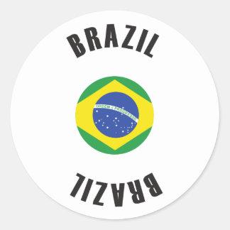 Roda da bandeira de Brasil Adesivo