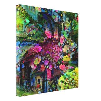 Roda da flor impressão em canvas