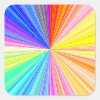 Roda da máscara da cor - extremo do arco-íris adesivo quadrado