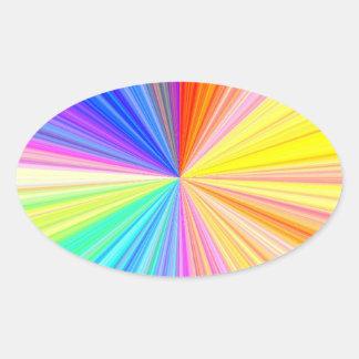 Roda da máscara da cor - extremo do arco-íris adesivo