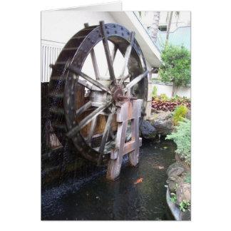 roda de água cartão