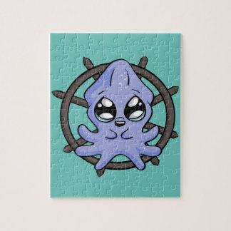 Roda do calamar do bebê! quebra-cabeça