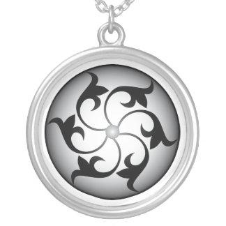 Roda místico colar com pendente redondo