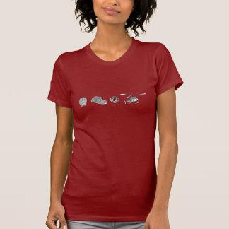 Roda, pão cortado, rolamento de esferas, t-shirt
