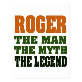 ROGER - homem, o mito, a legenda Cartoes Postais