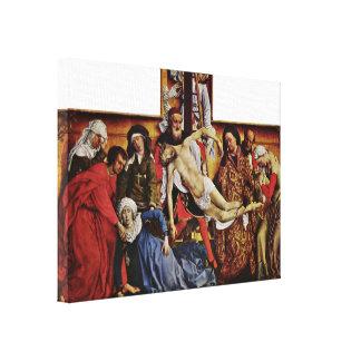 Rogier van der Weyden - descida da cruz Impressão Em Tela