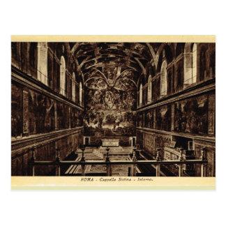 Roma dentro da capela de Sistine Cartão Postal