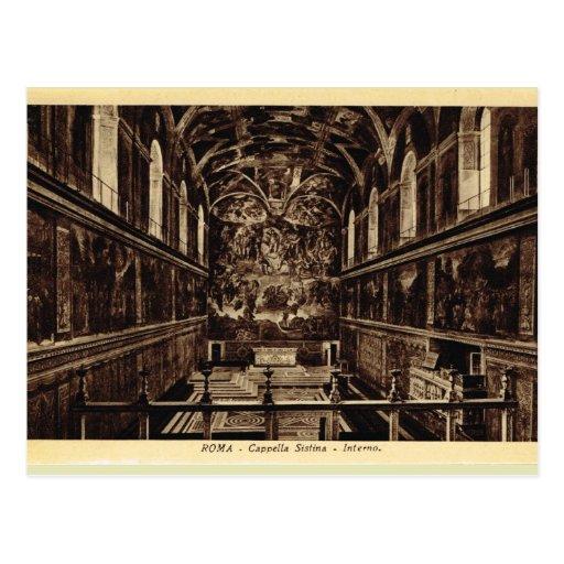 Roma dentro da capela de Sistine Cartao Postal