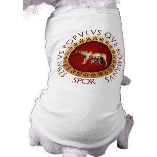 Roma imperial camisa sem mangas para cachorro