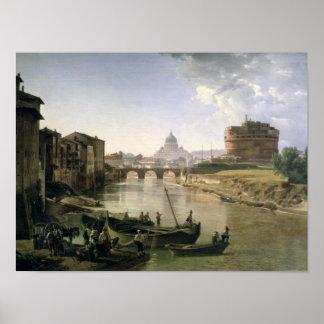 Roma nova com o Castel Sant'Angelo Posters
