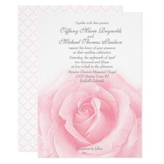 "Romance 5"" do rosa do rosa x 7"" convites"