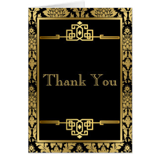 RomanceArt dourado DecoThank você cartão de nota