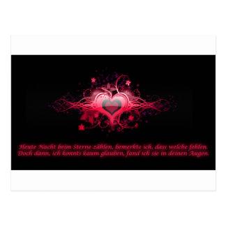Romantismo em Pink Cartão Postal