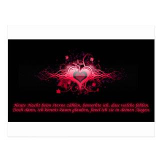 Romantismo em Pink Cartoes Postais