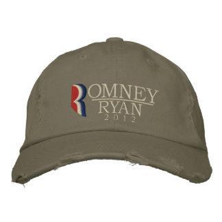 Romney/o vintage 2012 Grunge de Ryan bordou o Boné Bordado
