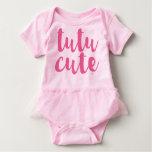 Romper bonito do tutu do bebé do tutu cor-de-rosa tshirt