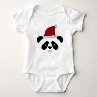 Romper do bebê da panda do papai noel tshirt