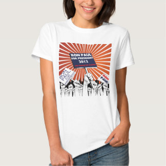 Ron Paul para o tshirt 2012 do presidente