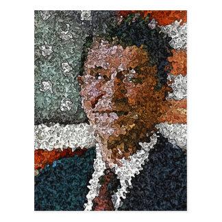 Ronald Reagan com bandeira Cartão Postal