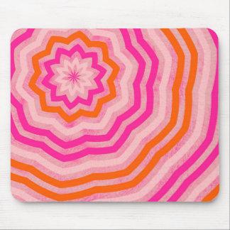Rosa abstrato bonito e laranja da flor mouse pad