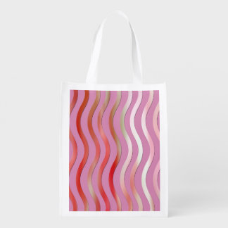 Rosa abstrato do design no saco reusável sacola reusável