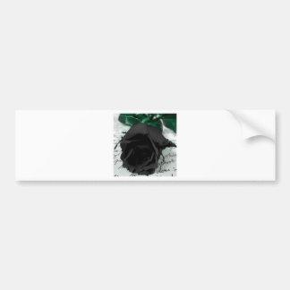 Rosa abstrato do preto da flor adesivo para carro